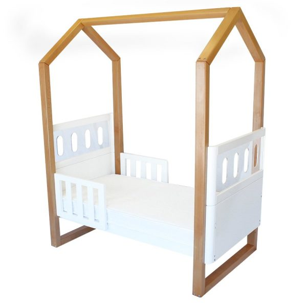 kaylula mila cot with toddler rails up