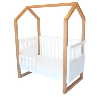 kaylula mila cot with full toddler rails up