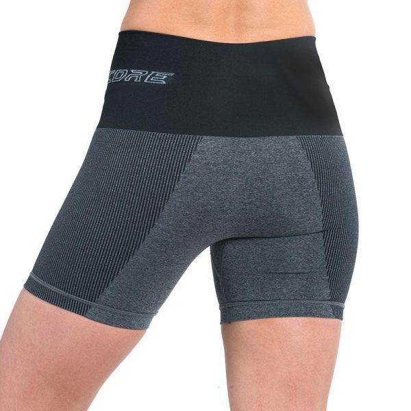 supacore postpartum compression shorts in black back view
