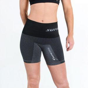 supacore postpartum compression shorts in black front view