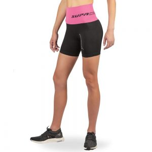 supacore compression shorts pink waistband side view