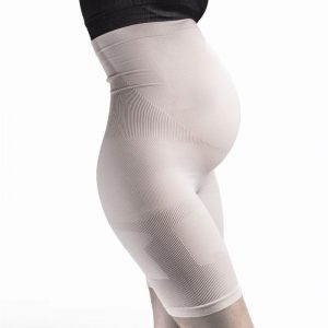 supacore coretech pregnancy support shorts white
