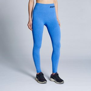 supacore recovery compression leggings in blue
