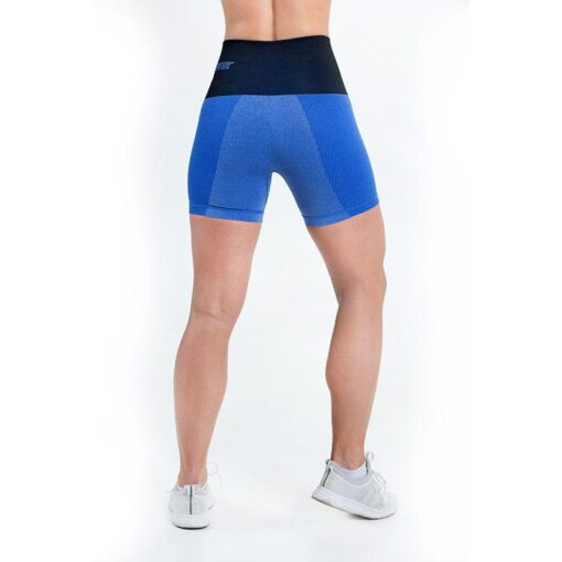 supacore postpartum compression shorts in blue back view