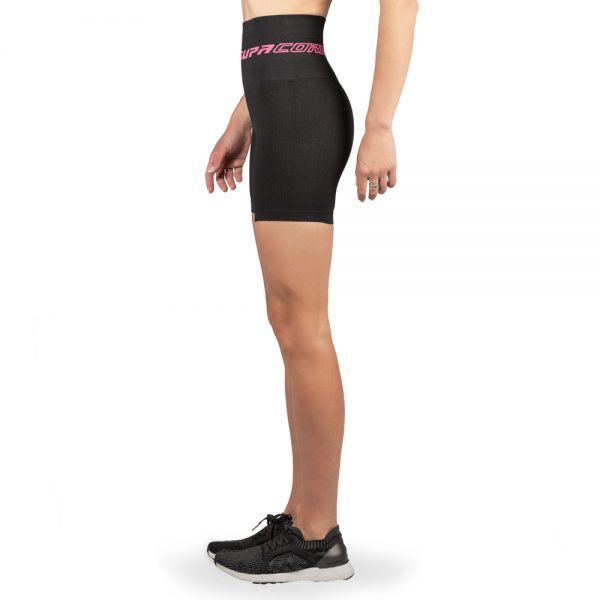 supacore compression shorts black side view
