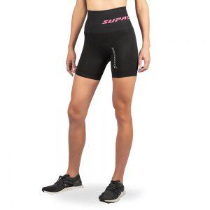 supacore compression shorts black front view