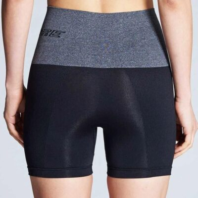 supacore compression shorts grey waistband back view