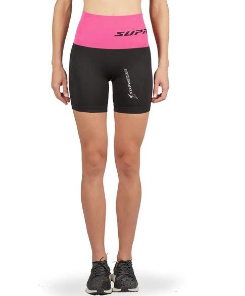 supacore compression shorts pink waistband front view