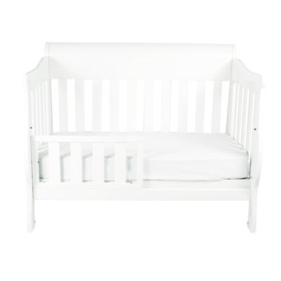 Amani 4 in 1 cot set as white toddler bed