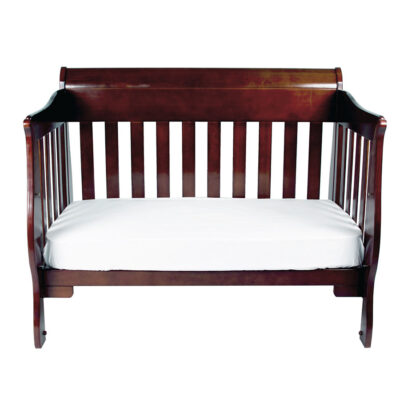 Amani cot set as day bed in walnut colour