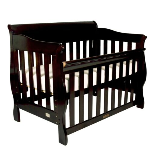 amani cot in english oak colour bassinet setting