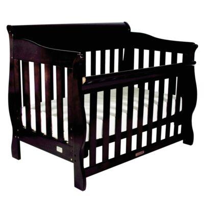 amani sleigh cot in english oak colour
