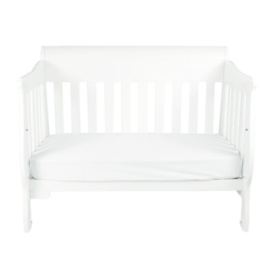 sleigh cot set as day bed in white