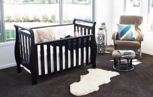 Georgia sleigh cot luxx in nursery