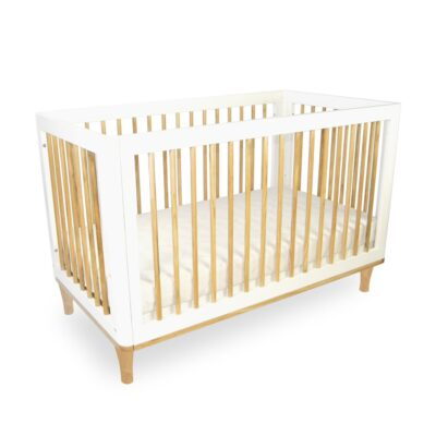 riya cot in white and natural colour