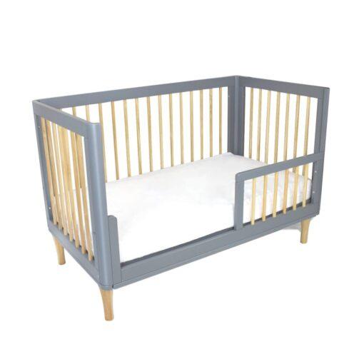 riya grey and natural cot in toddler bed version