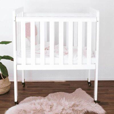 mini ergonomic cot white