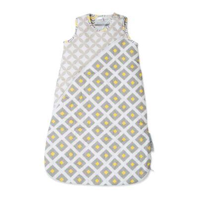 amani organic sleeping bag in lemon twist