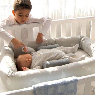 organic breathe eze cosy crib in cot