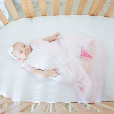 baby wearing a sleeping bag for sleep