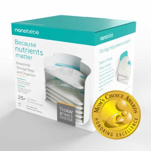 nanobebe breastmilk bag stacker box