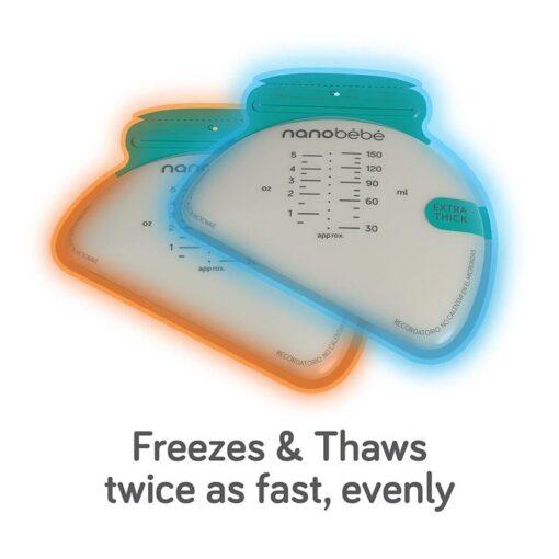 nanobebe breastmilk bags freezes thaws fast