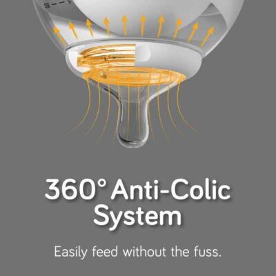 nanobebe breastmilk bottle anti colic system