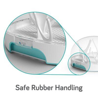 nanobebe microwave steam steriliser with rubber handles