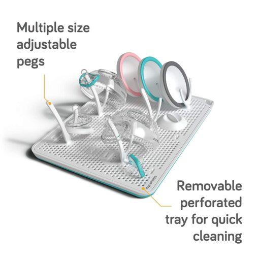 nanobebe slim drying rack stacked